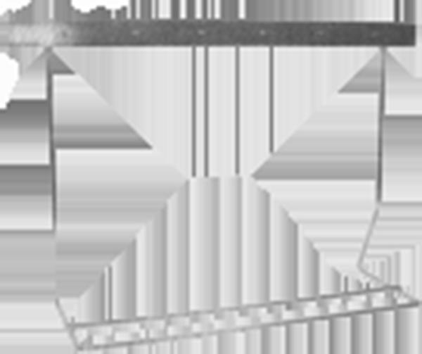 Ständer für UV-Fliegenlampe Typ 1x2